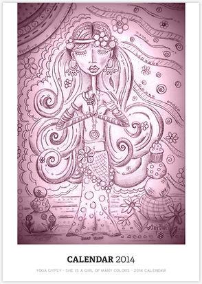 2014 Yoga gypsy Calendar Image