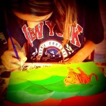 Mariah painting Tiger