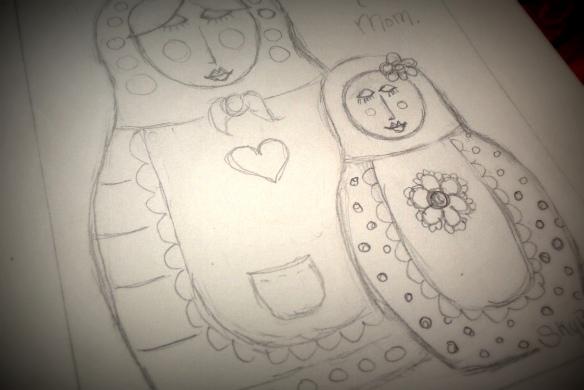 me and my mum - sketch